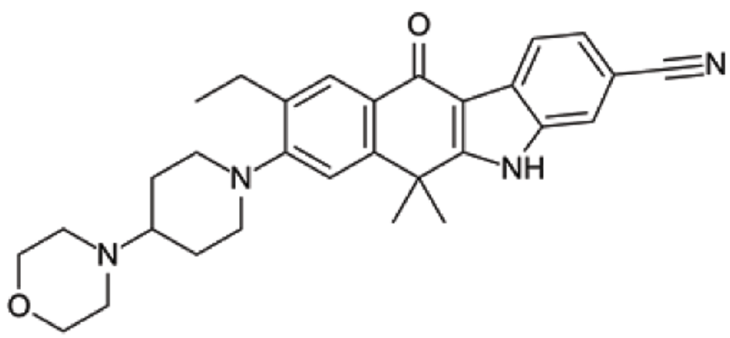 Figure 1: Chemical structure of alectinib